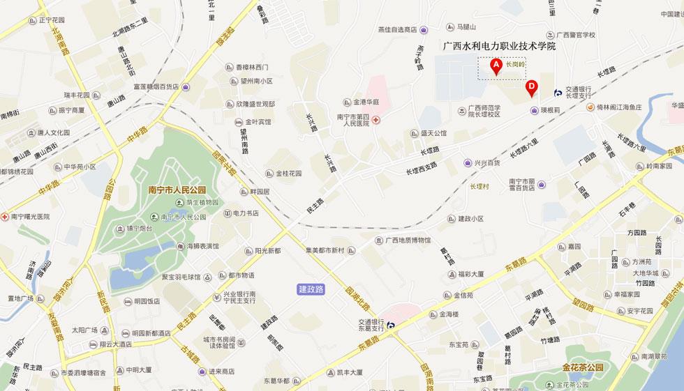 广西水利电力职业技术学院交通示意图